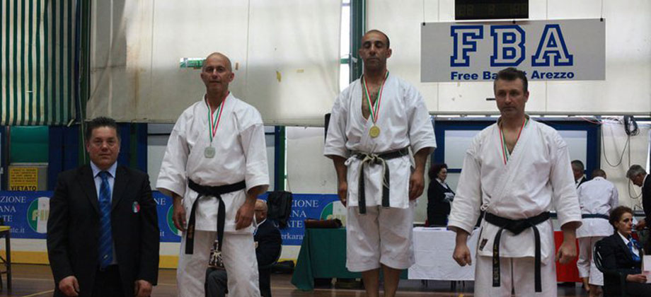 Cristian Castellano campione Italiano kata categoria MASTER