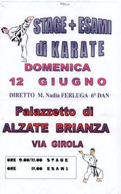 Stage Karate del M° Nadia Ferluga